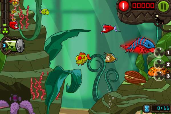 Zombie fish tank ios game review for Fish tank game
